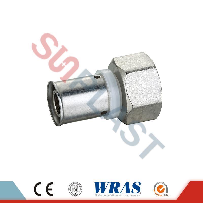 Raccord femelle de presse en laiton pour tuyau multicouche PEX-AL-PEX