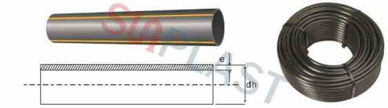 HDPE gas pipe specifications